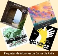 Paquete Digital Mixto: 4 álbumes de producciones musicales de Carlos de Avila